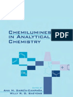 Chemioluminescence in Analytical Quemestry