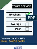 Customer Service Skills e Book Sample
