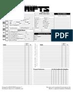 Advanced Character Sheet