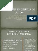 ANESTESIA EN CIRUGÍA DE COLON