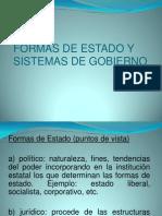 Formas de Estado y Sistemas de Gobierno Diapositivas