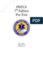 PHTLS 7th Edition Pretest Ver 1 3 Jan 2011