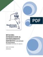 Bitacora Introduccion Al Entrenamiento Deportivo Con Enfasis en Velocidad