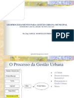 Gestão Urbana X Geoprocessamento