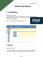 PhoneSuite User Manual