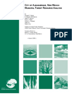 City of Albuquerque, New Mexico - Municipal Forest Resource Analysis