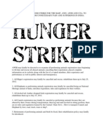 Open Notice for Hunger Strike against animal abuse in India - Naresh Kadyan