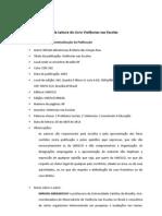 Ficha de Leitura Violências nas Escolas