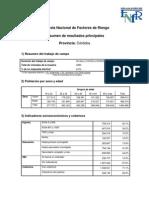 Córdoba Resultados Encuesta Nacional de FR
