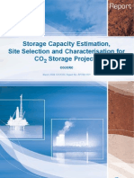 Storage Capacity Estimation, Site Selection and Characterisation for CO2 Storage Projects (CO2CRC, March 2008)