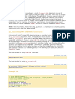 Stored Procedures Examples