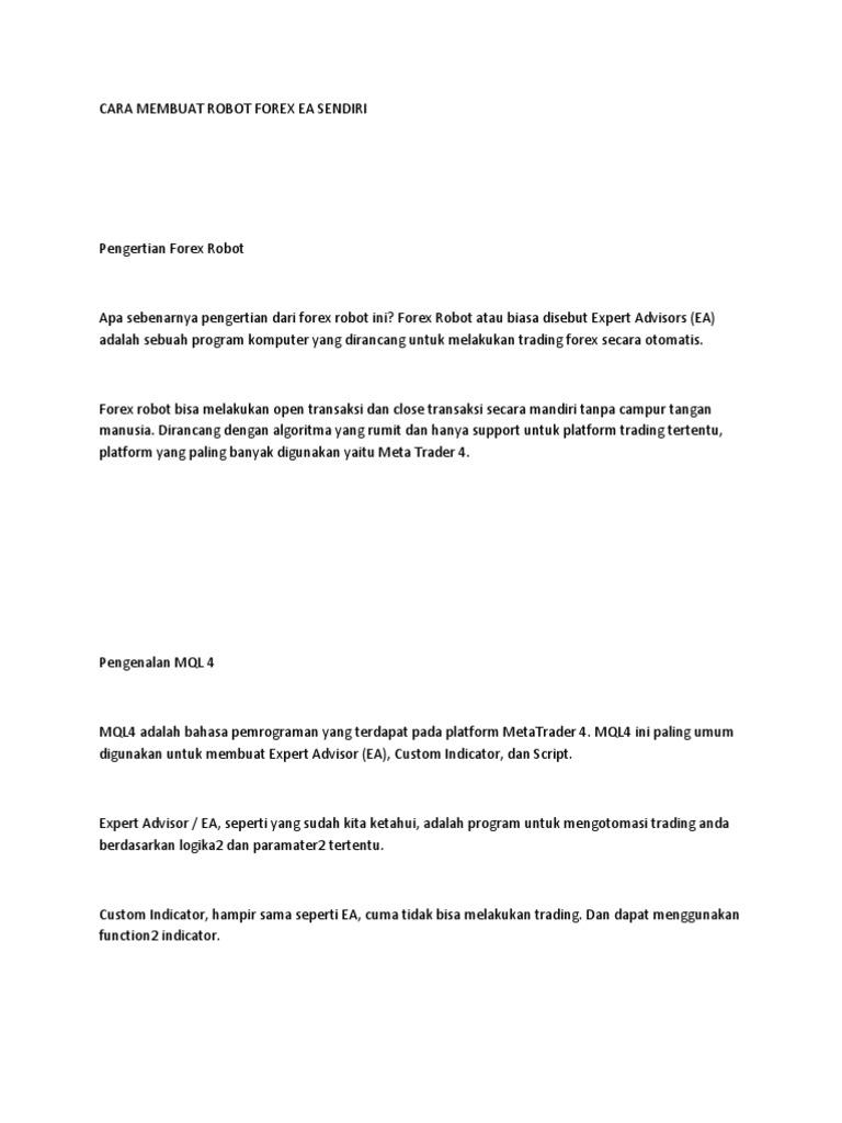 skrip perdagangan forex otomatis cium strategi perdagangan