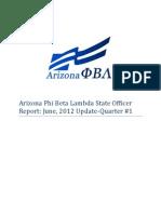 Arizona Phi Beta Lambda State Officer Report-June 2012