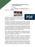 7 Estrategias Del Imperialismo Contra Venezuela Hacia La Gran Victoria Del 7 de Octubre Del 2012