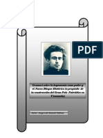 Antonio Gramsci y el Bloque Histórico.
