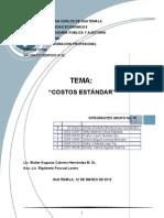 Trabajo de costos Estándar