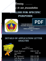 Application Letter English for Specific Purposes