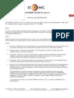 Curriculum Empresarial Ecotermic s.a. de c.v2011