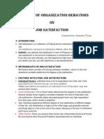 Assignment of Organization Behaviors