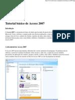 Tutorial básico de Access 2007