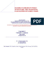 Defining Eligible Families in Public Housing and Welfare the Traditions, Values, And Leg Ali Ties of Family Form