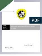 Additional Mathematics Project 2.2012 Sarawak