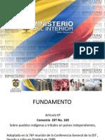 Fundamento Artículo 6 convenio OIT No. 169 - Ministerio del Interior