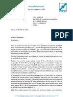 Inconstitucionalidade da eliminação de feriados   18.mai.2012 - carta à Pres. Assembleia da República