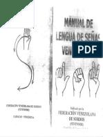 Manual de lengua de señas venezolana (Fevensor)