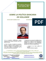 SOBRE LA POLÍTICA BANCARIA DE HOLLANDE (Es) ON HOLLANDE'S BANKING POLICY (Es) HOLLANDEREN BANKU POLITIKAZ (Es)