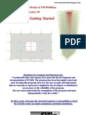Etabs Design of Tall Building Reinforcement Detailing