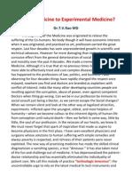 Clinical Medicine to Experimental Medicine