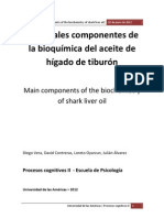 Main Components of the Biochemistry of Shark Liver Oil - Procesos Cognitivos 2