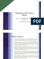Caladean Half-Ogre Race