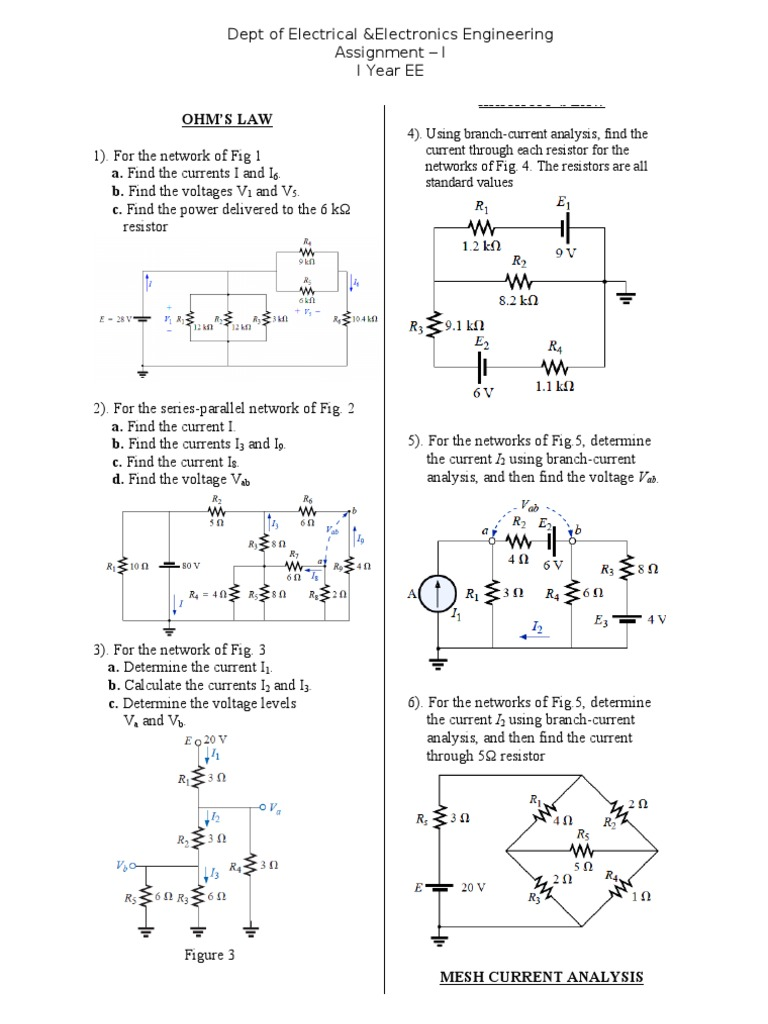 Ct Assignment I Electrical Network Resistance And Designing A Resistor Resistors In Series Conductance