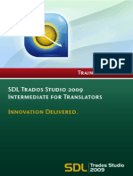 SDL Trados Studio 2009 for Translators - Intermediate