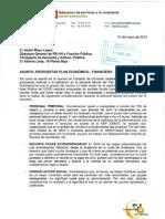 Escrito Ccoo a Dgfp Propuesta Plan Ajuste 31-5-12