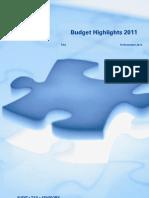 KPMG Budget Highlights 2011