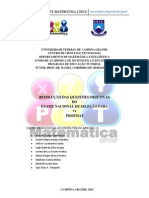 Resolucao Do PROFMAT Pet Matematica UFCG