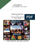 Memoria Final Escuela 2.0 en Primaria 2012