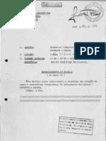 Documento da repressáo da ditadura militar com relação de membros do PCBR e COLINA