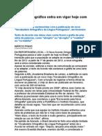 Acordo Ortográfico Entra Em Vigor Hoje Com Indefinições - língua Portuguêsa 2009