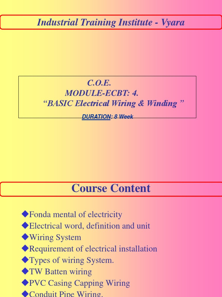 Types of Wiring | Electrical Wiring | Electric Motor