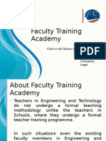 Faculty Training Academy a Beacon Among Staff Training Instituions