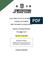 Information Package-Nursing Practicum I STUDENT[1]