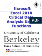 UC Excel 2010 - Module 4 - Data Analysis