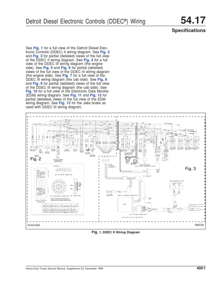 ddec ii and iii wiring diagrams diesel engine truck rh scribd com Speed Sensor Wiring Diagram ddec iv wiring diagram