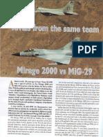 Mirage 2000 vs Mig-29