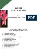 SBQ 3522 Legal Studies 111 - First Week
