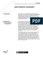 Guide to Power System Selective Coordination 600V and Below - 0100DB0603